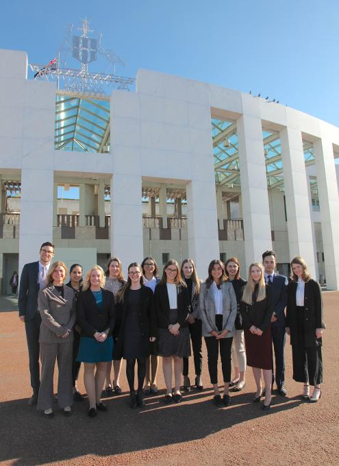 GV Scholars outside Parliament House Sep19